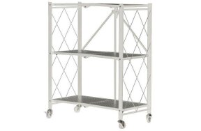 3 SHELF FOLDABLE STORAGE UNIT WHITE